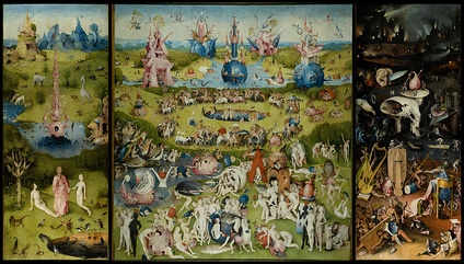 The Garden of Earthly Delights in the Museo del Prado in Madrid, c. 1495–1505, by Hieronymus Bosch
