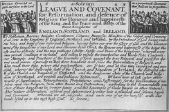 The 1643 Solemn League and Covenant between England and Scotland