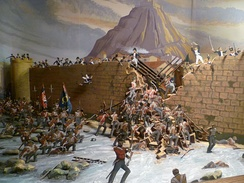 The capture of San Sebastián, diorama in the Royal Scots Regimental Museum