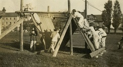 Obstacle-course training at the Royal Military College of Canada circa 1917