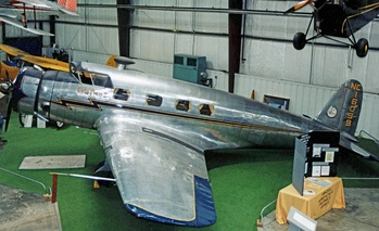 1936-built Vultee V-1 executive aircraft, displayed at the Virginia Aviation Museum.