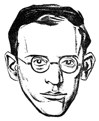 Drawing of Albert Weisbord used in the Communist Press, 1926. Probably drawn by Hugo Gellert.