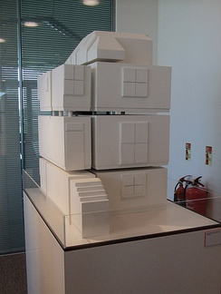 Scale model of Whiteread's submission for the Ebbsfleet Landmark project