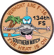 Operation Southern Watch 134th EFS 2000 patch