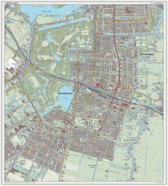 Topographic map of Amstelveen, September 2014