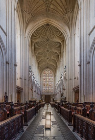 Fan vaulting over the nave at Bath Abbey