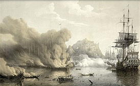 Battle of Palermo, June 1676; the French destroy a combined Dutch/Spanish fleet at anchor