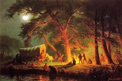 Oregon Trail, painting by Albert Bierstadt, c. 1863