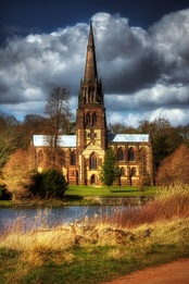 The Gothic revival Church of St Mary the Virgin, Clumber Park