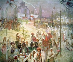 The coronation of emperor Dušan in Skopje, Alfons Mucha, 1926.