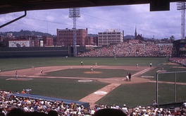 The Reds played at Crosley Field, pictured here in 1969, from 1912 to 1970.
