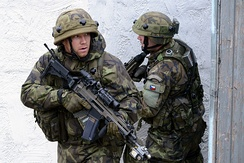 Czech Army soldiers during an exercise