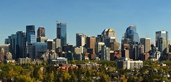 Many of Calgary's tallest buildings are located downtown.