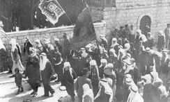 Druze parading in Safed after the Palmach victory in 1948