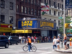 CBS's Ed Sullivan Theater in Manhattan, former home of the Late Show with David Letterman. Now houses The Late Show with Stephen Colbert.