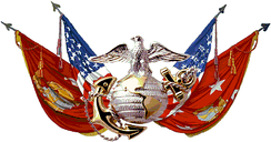 A rendition of the emblem on the flag of the U.S. Marine Corps