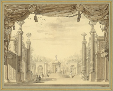Set design for Act III by François-Joseph Bélanger for the 1776 French-language première