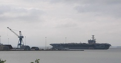 USS George H.W. Bush shortly after being released from dry dock for the first time