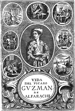 Title page of the book Guzmán de Alfarache (1599)