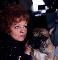 Hermione Baddeley, who played Edie Randall, pictured in 1978