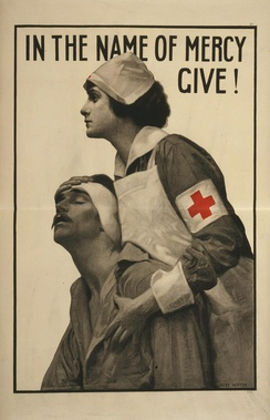 Red Cross poster from the First World War.