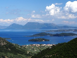The Ionian Sea, view from the island Lefkada, Greece