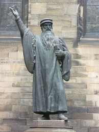 John Knox, who in 1559 returned from ministering in Geneva to lead the Reformation in Scotland.