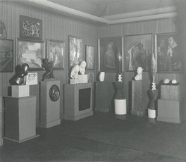 Photograph of works in a Quinn estate auction, New York, 1927