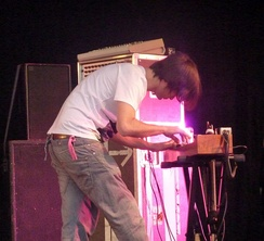 Jonny Greenwood playing the ondes Martenot (pictured in 2010).