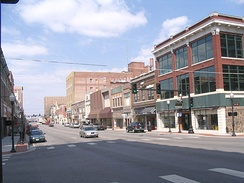 Historic district at 6th and Main, looking north, 2010