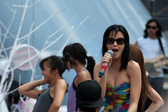 Perry in a soundcheck at the MuchMusic Video Awards in 2010