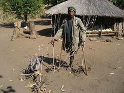 A land mine victim in Mozambique