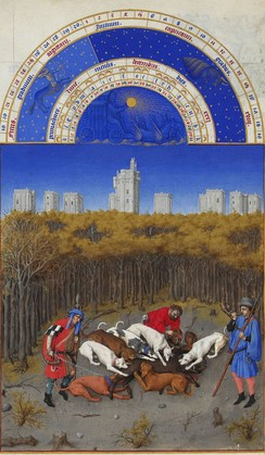 December, from the Très Riches Heures du duc de Berry
