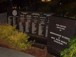 List of donors at the Beverly Hills 9/11 Memorial Garden in Beverly Hills, California