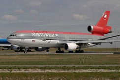 McDonnell Douglas DC-10 of Northwest Airlines.