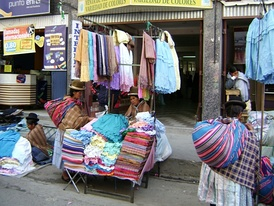 Black market in La Paz