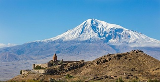 Mount Ararat, as seen from Armenia
