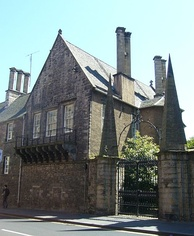 Moray House on the Royal Mile – Cromwell's residence in Edinburgh when he implored the Assembly of the Kirk to stop supporting Charles II