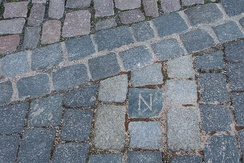 "The Napoleon symbol ""N"" left in Dresden, Germany"