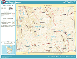 Map of Wyoming - PDF