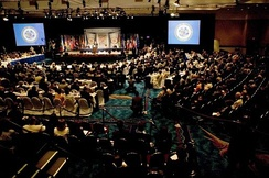 A session of the OAS's thirty-fifth General Assembly in Fort Lauderdale, Florida, United States, June 2005.