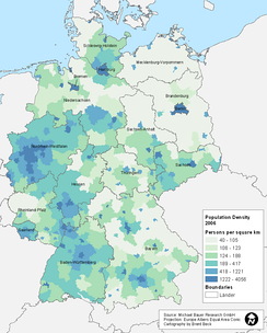 Bavaria is one of Germany's least densely populated states