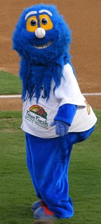 Rip Tide, the mascot of the Norfolk Tides