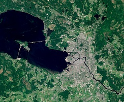 Satellite image of Saint Petersburg and its suburbs