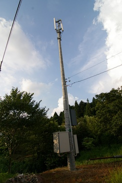 A SoftBank mobile cell tower in Nakatsugawa, Gifu
