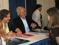 New York Comic Con during the X-Files autograph session with Chris Carter and Frank Spotnitz, creators of The X-Files.