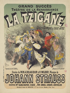 Poster for the original French translation, La Tzigane