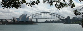 The Sydney Harbour Bridge and the Opera House are an iconic image of Sydney, and the continent itself.[98][99]