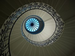 Spiral staircase and lantern at the Queen's House in Greenwich