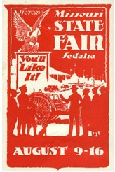 Poster stamp for the Missouri State Fair, c.1930.